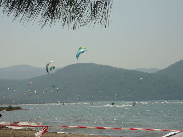 Beware Do Not Cross Line Fun And Danger Danger And Fun Akyaka Monochrome Mugla Parasailing Scenics Sea Tranquility Turkey