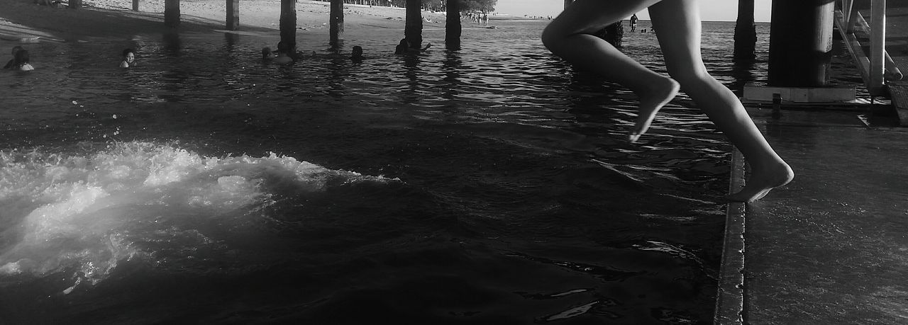 Jumping Water Black & White Hanging Out Leap The Point Of No Return