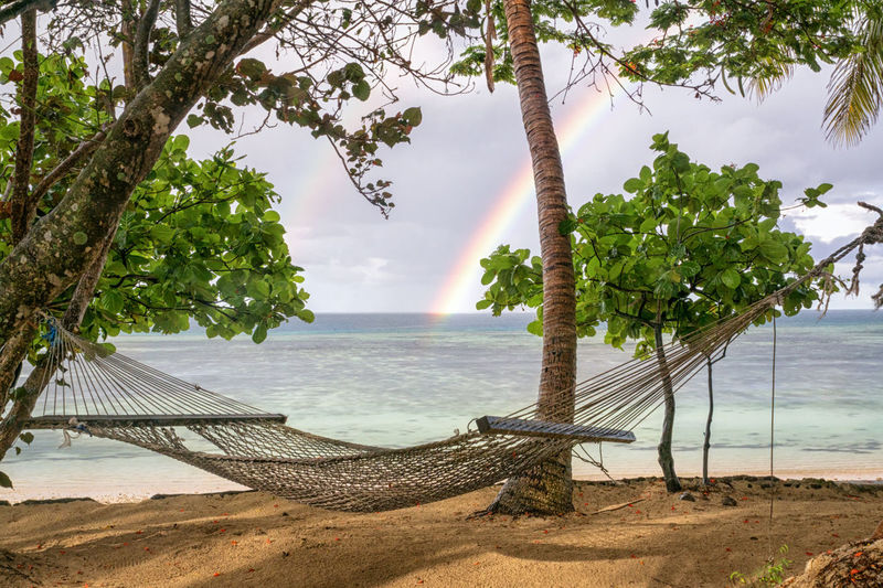 How about this spot for some relaxation? EyeEm Best Shots EyeEm Nature Lover EyeEmBestPics EyeEmNewHere Beach Beachphotography Beauty In Nature Chill Day Fiji Hammock Horizon Over Water Nature No People Outdoors Rainbow Relax Sand Scenics Sea Sky Tranquil Scene Tranquility Tree Water