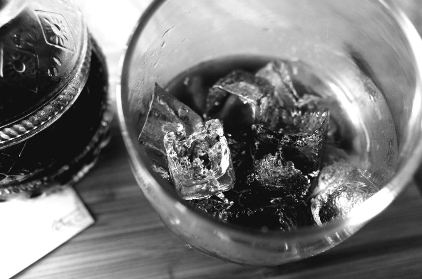 Ice cubes in cold drip coffee on a Sunday morning. Coffee Blackandwhite Monochrome Open Edit Cafe Ice Cubes