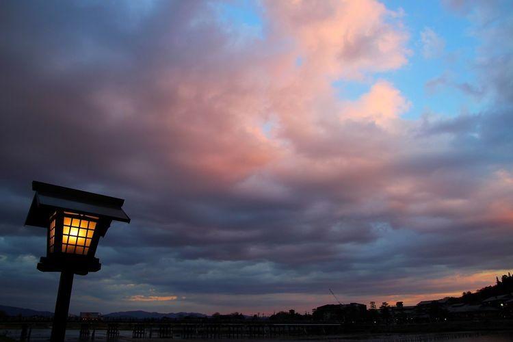 空 夕焼け Sunset Sky Light And Shadow Light 灯