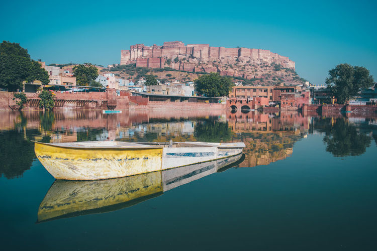 We don't see things as they are, we see them as we are. Rajasthan Blue Water Architecture Outdoors Travel Destinations History Sky Lake Landscape Urban Skyline Jodhpur Mehrangarh Mehrangarh Fort Tones Reflection