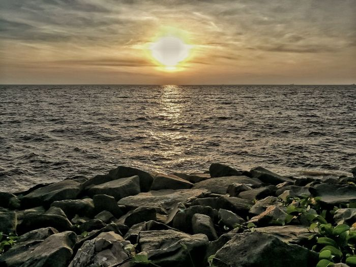 Sea Sunset Horizon Over Water Nature Beach Sun Dramatic Sky Beauty In Nature Scenics Sunlight Outdoors Sky Tranquil Scene Water Travel Destinations No People Tranquility Silhouette Cloud - Sky Vacations Breathing Space EyeEm Selects EyeEmNewHere