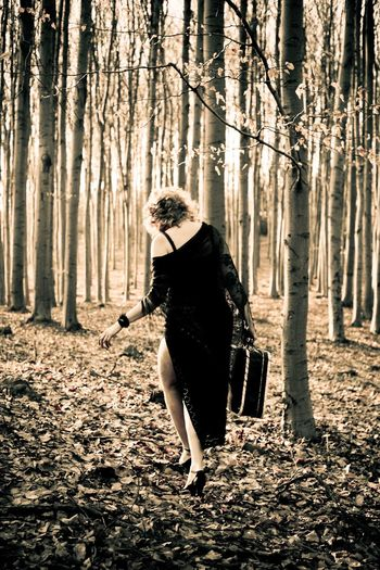 Capturing Freedom Runaway Portrait Of A Woman Women Escaping Traveling Woods Nature Trees