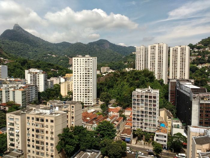 Architecture Cityscape City Skyscraper Building Exterior Urban Skyline No People Mountain Travel Destinations Cloud - Sky Apartment Tree Outdoors Sky Day Corcovado Contrast Panoramic High Definition Mountains Brazilian Tropical Backgrounds Full Frame HDR Neighborhood Map