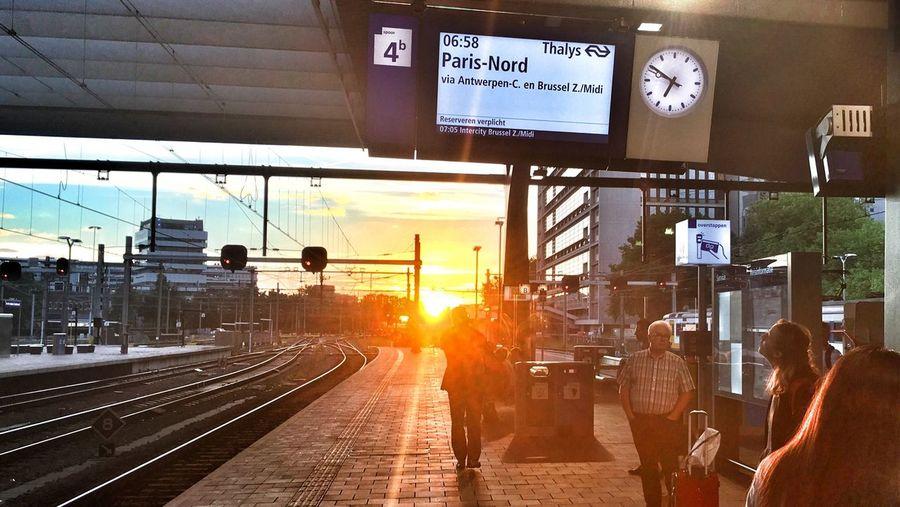 Early morning departure! ROGA Zerozomermissies2016 Thalys The Netherlands Sunrise Train Train Station Rotterdam Centraal