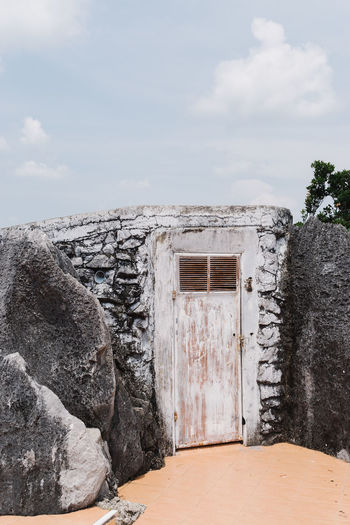 Rock Rock Formation Thailand Travel Travel Photography Traveling Built Structure Day Door No People Outdoors Pastel Sky Travel Destinations