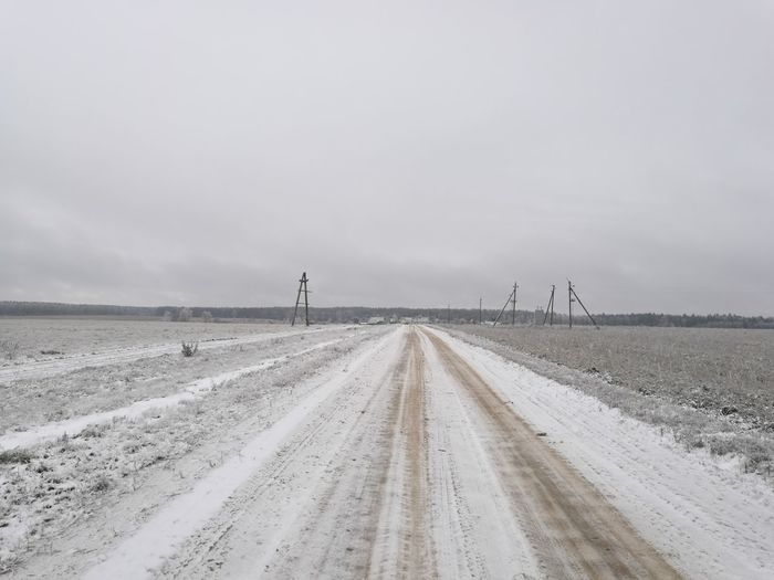 The road to the mother, Belarus, Village Valentinovo, walking path. Adapted To The City