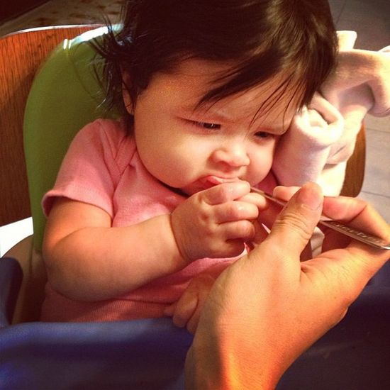 First time trying her Applesauce  :)