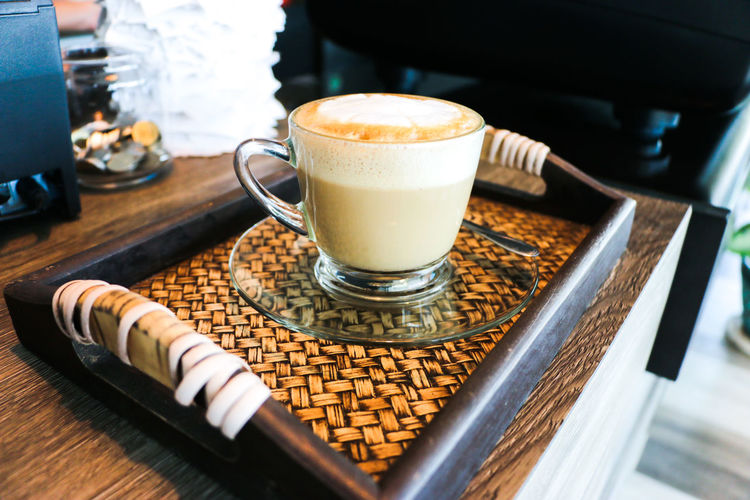 Close-up of coffee on table