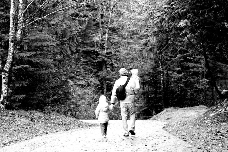 Family @ Alexander Falls, Whistler Alexander Falls Black & White Black And White Blackandwhite Childhood Daughter Family Family Lifestyles Real People Tree Whistler