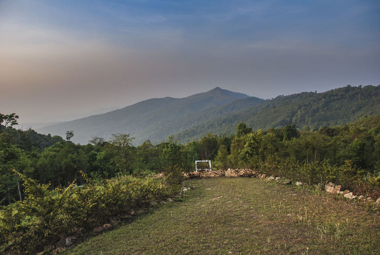 Beautiful mountain views at doi kat. nantaburi national park, nan, thailand