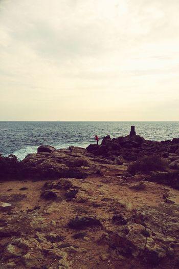 Guincho People Fishing Sea And Sky