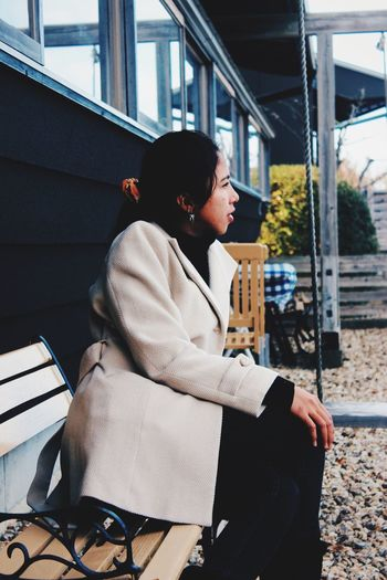 Showcase: January Woman Woman Portrait Girl Bench Look Looking Forward Inspired Fashion Photography f Fashion Beauty Beauty In Nature Winter Fashion