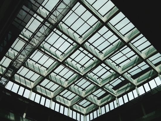 Indoors  Low Angle View Window Architecture No People Pattern Day Built Structure The Graphic City