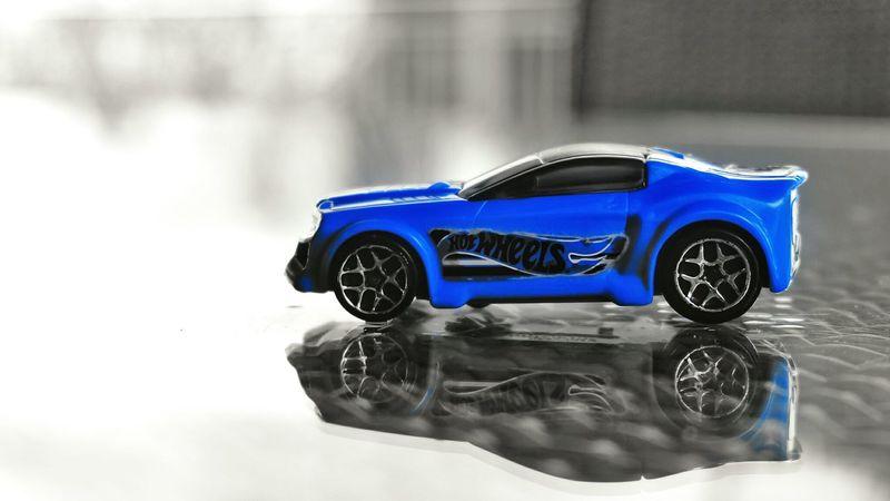 Blue Hot Wheels Blue HotWheels Bluecar Splash 35mm Reflection Toy Toys Car