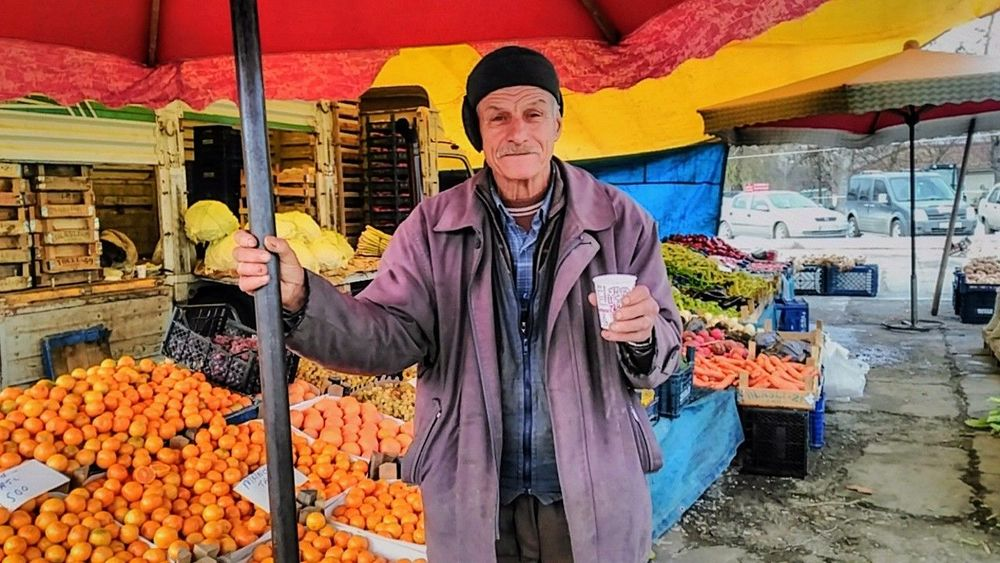One Man Only Mature Adult Only Men One Person One Mature Man Only Business Finance And Industry Mature Men Market Stall Adults Only Adult Market Small Business Market Vendor Food And Drink People Retail  Business Front View Store Food