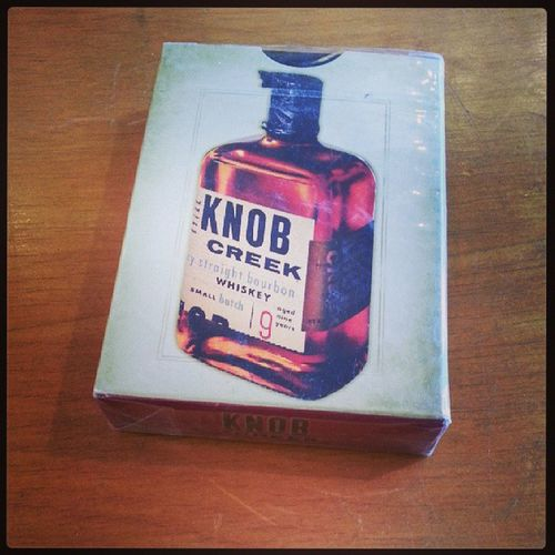 Do you love Whiskey? Do you love playing cards? Why wouldn't you buy these? (They are still in the original package) Hingestore Cincinnati Whiskey Knobcreek delish