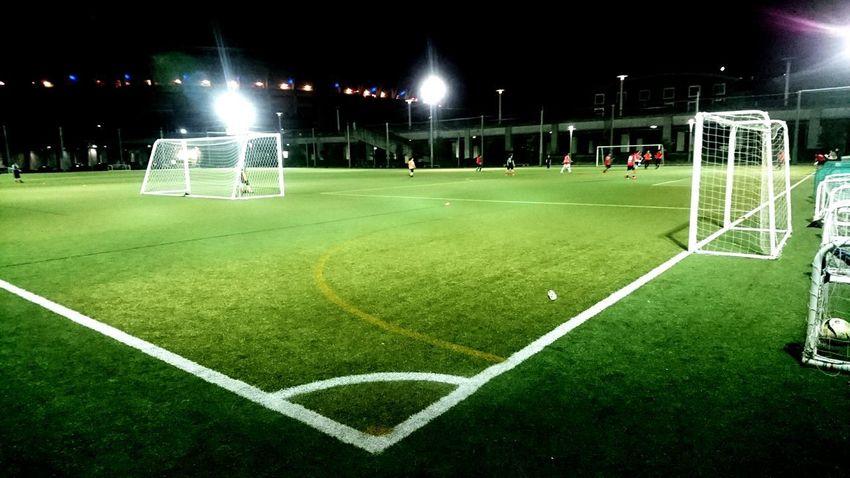 footsal Grass Soccer Green Color Soccer Field Night Footsal LINE Sport