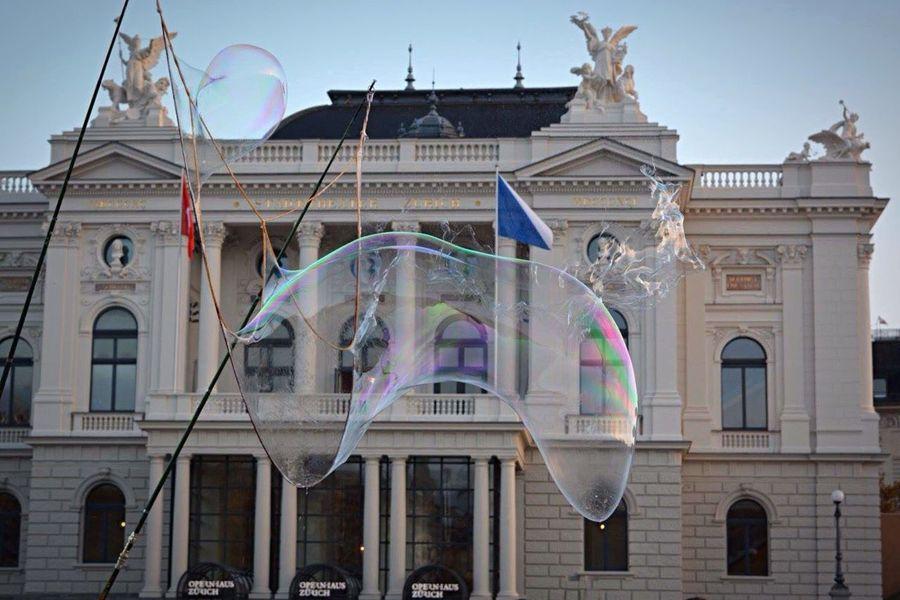 Bubbles Soap Bubbles Bulle Légèreté Architecture Zürich Switzerland
