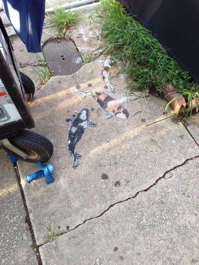 Koi street art . Atlanta
