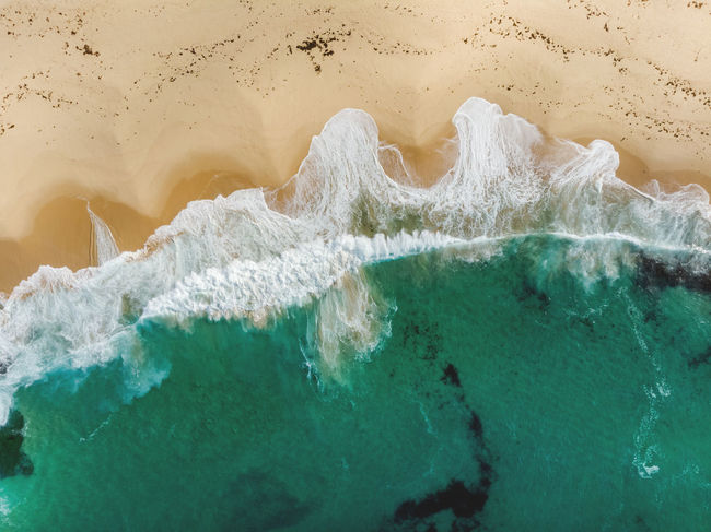 Marley Beach, Royal National Park, Sydney 120 Meters Above Aerial Shot Australia Beach Life DJI Mavic Air Flying High From Above  Abstract Beach Crushing Waves Dronephotography Full Frame High Angle View Hiking Adventures Marley Beach Motion Ocean Organic Shapes Power In Nature Royal National Park Sand Sea Turquoise Colored Water Waves