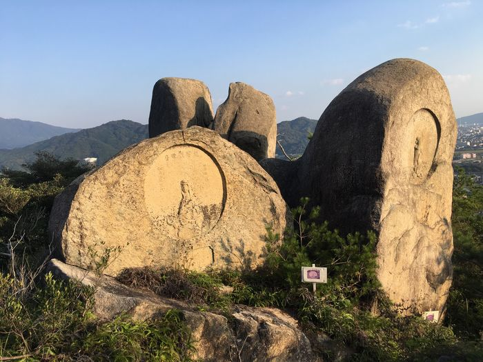 Mountain Rock - Object Beauty In Nature Nature Scenics Outdoors History Ancient No People Travel Destinations Geology Tranquility Tranquil Scene Sky Day Landscape Ancient Civilization Architecture History japanesehistory Japanese  Otera Temple Shire 右田ヶ岳 Inthemountains