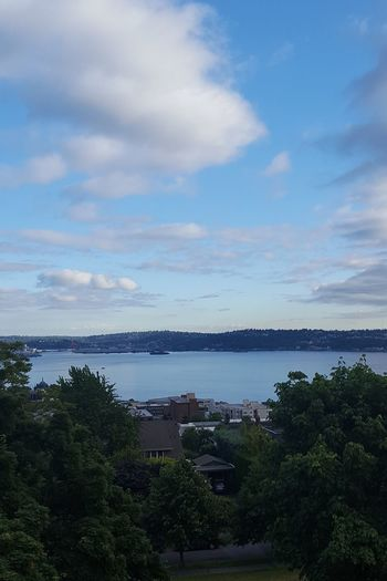 Seattle Sky Outdoors Tranquility Nature Landscape Beauty In Nature Water