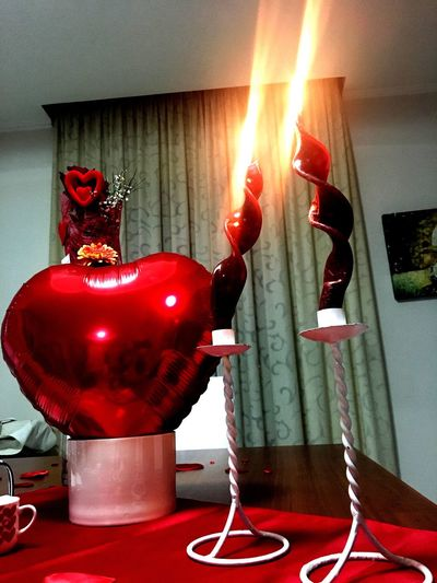 Happy Valentine's Day ❤ Red No People Indoors  Close-up Christmas Decoration Day Human Body Part