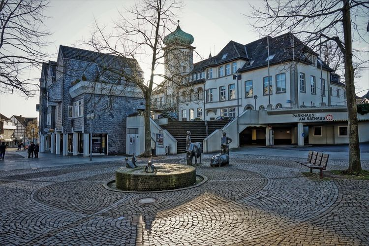 market place Architecture Bare Tree Building Exterior Built Structure City Day Framehouses Herdecke In Westphalia No People Old Town Square Outdoors Sky Small Town Town Hall Village Photography
