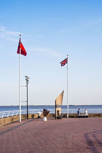 Flags Union Jack British Britain Brexit Water Hull Streetphotography Outdoors Flag Sky Patriotism Horizon