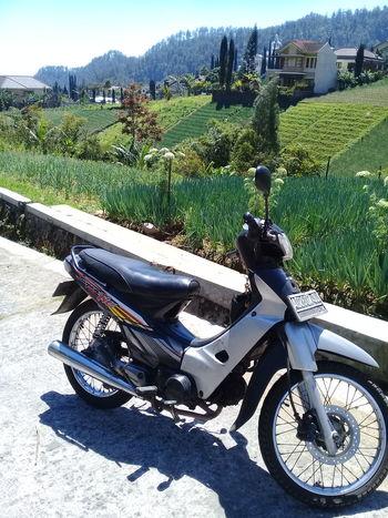 Tawangmangu Surakarta, Indonesia Landscape Motorcycle Land Vehicle Bicycle Sky Farmland