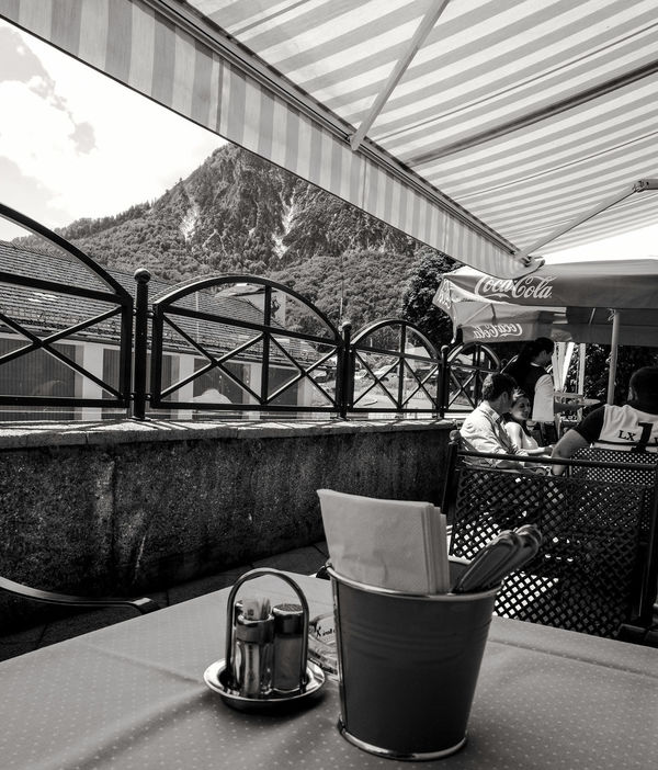 Lunch under the alps: Untersberg, Austria Travel Alps Monochrome Austria Untersberg Schwarzweiß Blackandwhite Europe
