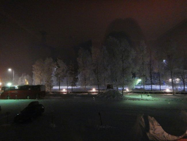 Finland Ivalo Night Eerie Beautiful Snow Frost