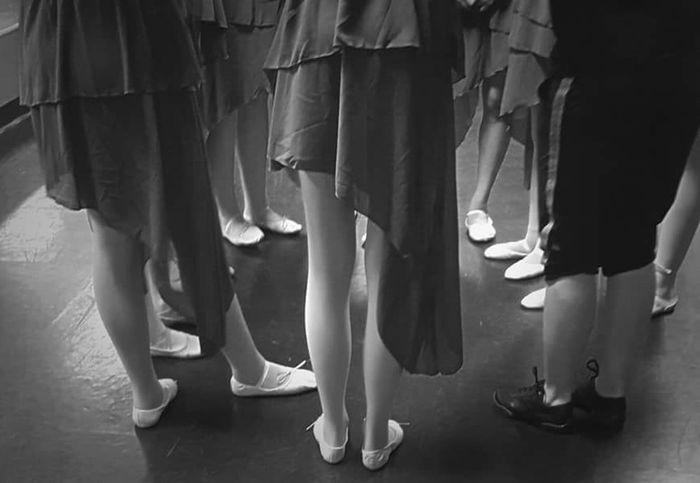 Girls checking out their shoes as they prepare for the upcoming recital. Dance Ballet Dancer Ballet Shoes Blackandwhite Black And White Photography Girls Kids Streamzoofamily Taking Photos EyeEm Arizona