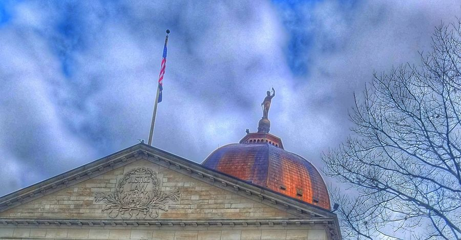 Architecture Building Exterior Built Structure Sky Cloud - Sky No People Low Angle View Outdoors Day Nature Courthouse Justice Law Mercy