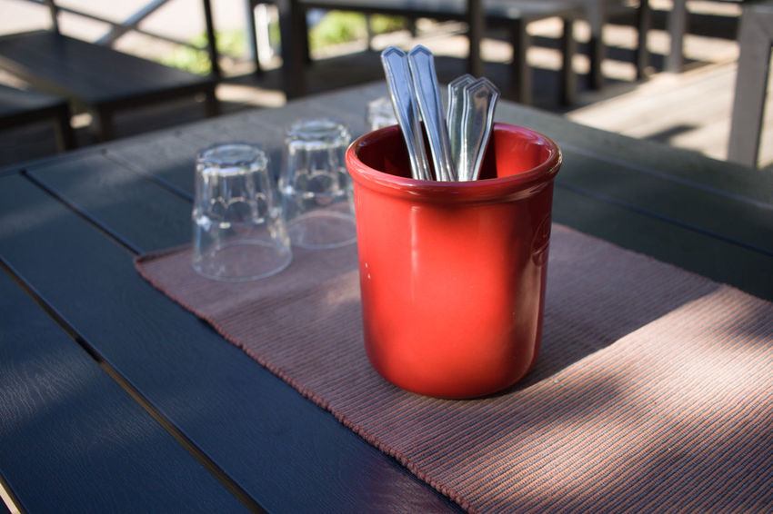 Close-up Day Flatware Focus On Foreground Food And Drink No People Outdoors Table Tables