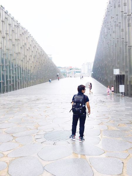 EyeEmNewHere Architecture Built Structure City Full Length Building Exterior Outdoors Day Men Adult People Modern Adults Only Only Men Sky One Person Seoul, Korea Ewha Womans University