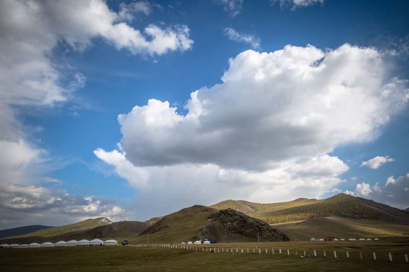 Grass Landscape Cloud - Sky Beauty In Nature Scenics Mountain Tranquility No People Outdoors Taking Photos Mongolian Nature Mongolia Ulaanbaatar EyeEm Best Shots Field Eye4photography  EyeEm Nature Lover EyeEm Gallery Agriculture