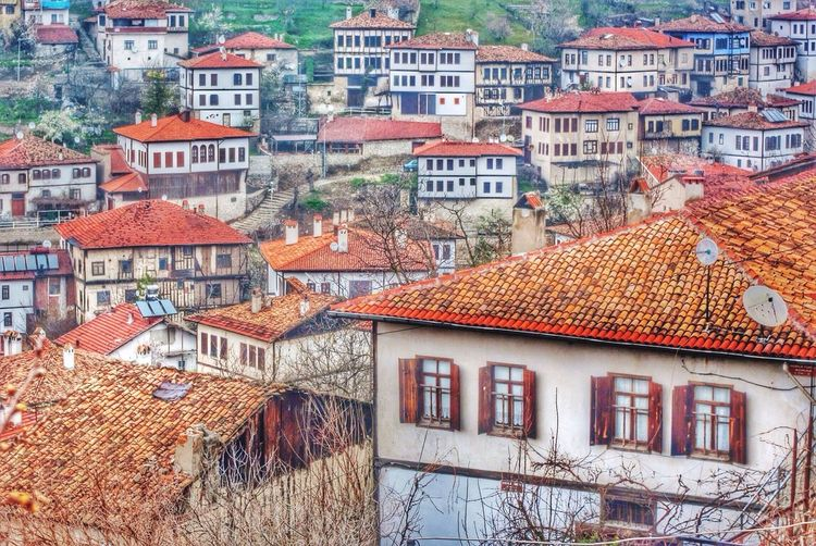 High angle view of buildings at safranbolu