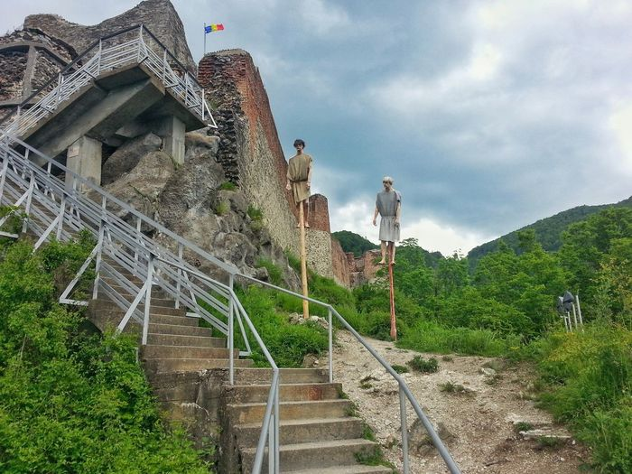 Poienari fortress,Vlad Tepes-Dracula Cloud - Sky Architecture Outdoors Tree No People Sky Nature Day Vlad Țepeș (Dracula) Fortress View Ancient History Practices From That Day's Punishment Romania National Monument Legend Of Dracula