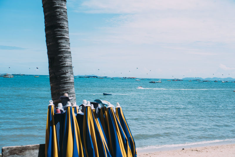Pattaya Thailand VSCO Beach Beauty In Nature Close-up Day Focus On Foreground Horizon Horizon Over Water Idyllic Land Metal Nature No People Outdoors Scenics - Nature Sea Sky Tranquil Scene Tranquility Turquoise Colored Vscocam Water Wooden Post