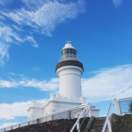 Light House And Blue Sky Lighthouse Lighthouse_lovers Lighthouse_captures Light House Byronbay Capetown Sky Blue Bluesky Blue Sky And Clouds