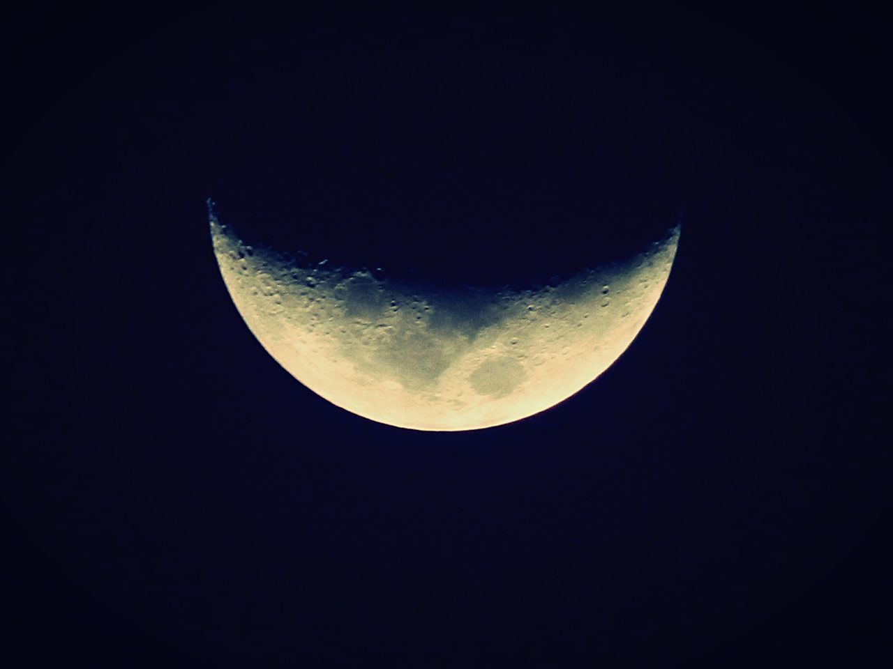 moon, astronomy, night, moon surface, beauty in nature, half moon, planetary moon, nature, majestic, copy space, scenics, tranquility, crescent, tranquil scene, clear sky, no people, low angle view, space exploration, space, outdoors, sky, close-up