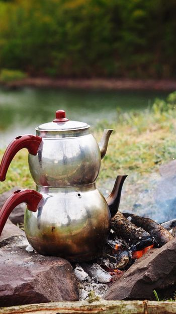 Focus On Foreground No People Outdoors Teapot Day Close-up Camping Stove Turkish Tea The Great Outdoors - 2017 EyeEm Awards