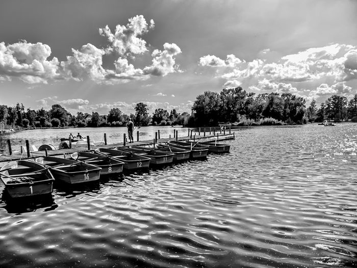 Leica Lover Lione Beauty In Nature Cloud - Sky Day Lake Leica Leica Lens Mode Of Transportation Moored Nature Nautical Vessel Non-urban Scene Outdoors Pier Plant Scenics - Nature Sky Summilux Tranquil Scene Tranquility Transportation Tree Water Waterfront The Great Outdoors - 2018 EyeEm Awards