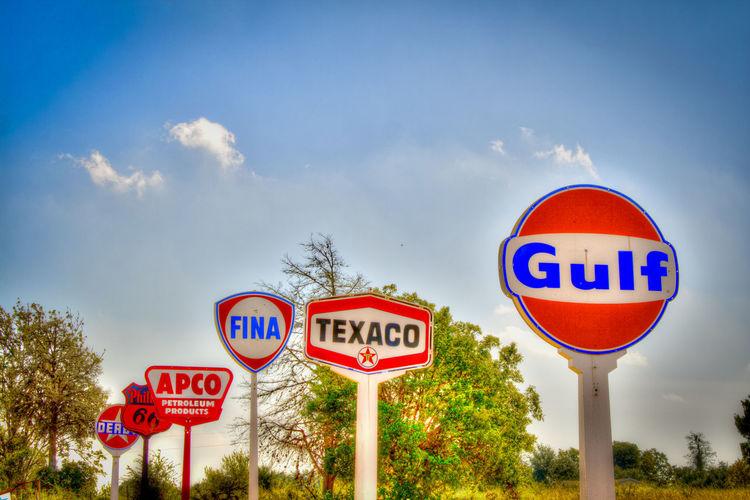 APCO Directional Sign Garden Gulf Sign Texaco Texas
