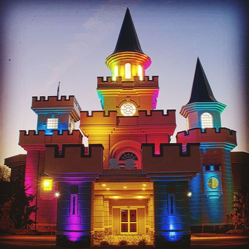 Architecture Illuminated Night Sky Multi Colored Outdoors Castle Walls Makeawishfoundation Newjersey