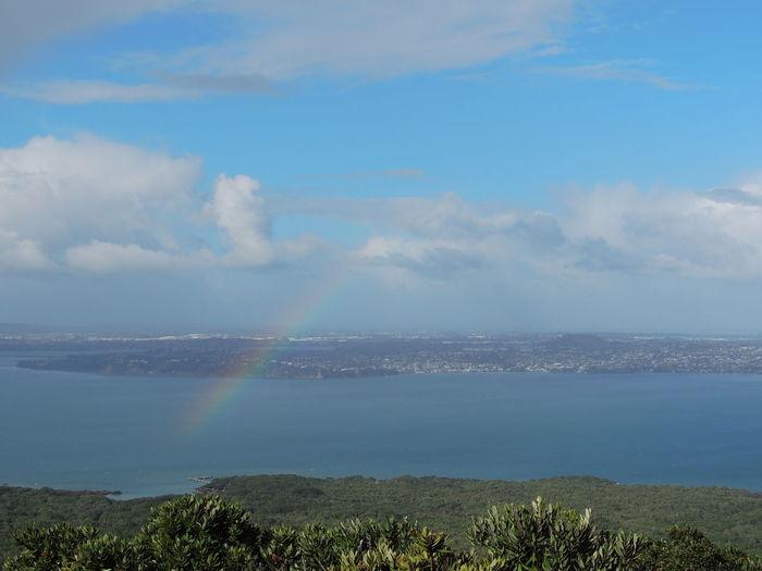 Rainbow Water Tranquil Scene Scenics Sky Beauty In Nature