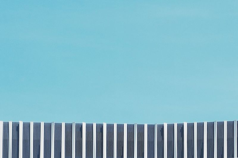 - A = ARCHITECTURE - The Architect - 2018 EyeEm Awards Check This Out! Berlin Photography Roof Modern Architecture Architecture Blue Copy Space Side By Side No People Pattern Indoors  Wall - Building Feature In A Row Architecture Built Structure Turquoise Colored Close-up Sky Arrangement Clear Sky Day